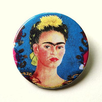 Frida Kahlo  button badge or magnet 1.5 Inch by PKPaperKitty