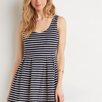 Scallop-Trimmed Fit & Flare Dress