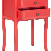 Lori End Table With Storage Drawers Hot Red