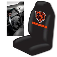 Chicago Bears NFL Car Seat Cover and Steering Wheel Cover Set