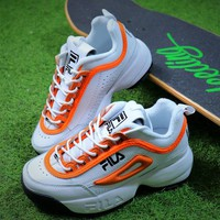 FILA Disruptor II 2 White Orange FW0165-038 Shoes - Best Online Sale