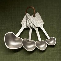 heart measuring spoons by beehivekitchenware on Etsy