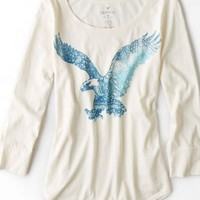 AEO Women's Graphic T-shirt (Toasted Coconut)