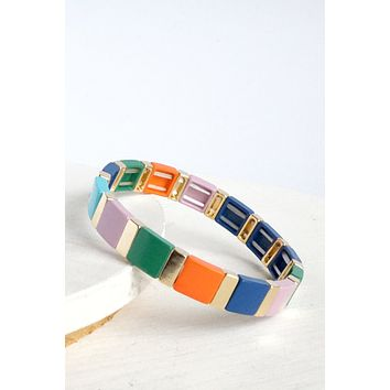 Color Block Layering Bracelet