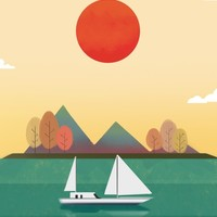 Sunset Boat, an art print by Sunny Seth