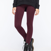 FULL TILT Cable Knit Womens Fleece Leggings | Leggings