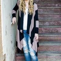 Clothing - Dark Romance Cardigan in Black and Taupe