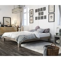 Vesta Champagne Metal Platform Bed | Overstock.com Shopping - The Best Deals on Beds