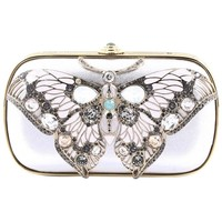 Judith Leiber Papillon Butterfly Minaudiere Embellished Leather