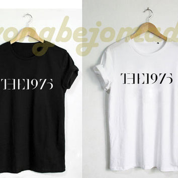 HOT The 1975 Shirt Band Music Tee, Pinterest Tumblr Facedown Album Tour Matt Healy Unisex Black Grey Navy and White Color Tshirt