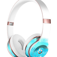 Hello Summer Blue Watercolor Anchor V2 Full-Body Skin Kit for the Beats by Dre Solo 3 Wireless Headphones