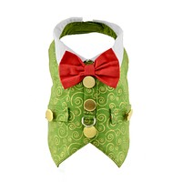Green & Gold Swirl Christmas Holiday Dog Harness Vest XSmall only - CLOSEOUT!