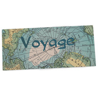 """Catherine Holcombe """"Voyage"""" Teal Map Desk Mat"""