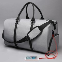 Waterproof Men Travel Bags Carry on Luggage Bags Men Duffel Bags Travel Tote Large Weekend Bag Overnight Rusksack Charger XL017