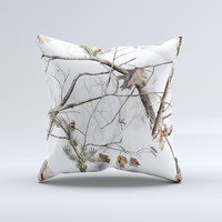 Real Winter Camouflage  Ink-Fuzed Decorative Throw Pillow