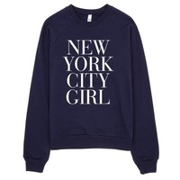 New York City Girl Typography Sweater