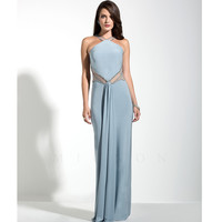 Mignon VM949 Cloud Blue Fitted Illusion Low Back Dress 2015 Prom Dresses
