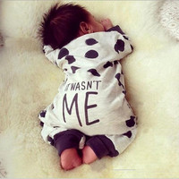 Polka Dot Baby Rompers 2016 Fashion Baby Clothing Rompers Children Clothing Sets white Long Sleeve jumpsuit infant Clothes