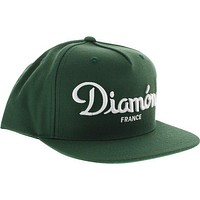 Diamond Champagne Hat Adjustible Green