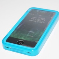 SOGA® Purple Wrap Up TPU Gel Skin Case Phone Cover With Built-In Screen Protector For iPhone 4 / 4S