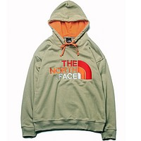 The North Face Autumn And Winter New Fashion Bust Embroidery Letter Women Men Hooded Long Sleeve Sweater Top