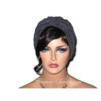 Handmade Grey Charcoal Rayon Twist Turban