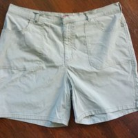 Women's Gloria Vanderbilt Cotton Stretch Walking Shorts Flat Front Plus size 20W