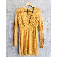 Final Sale - Honey Punch - As You Wish Embroidered Lace Mini Dress - More Colors