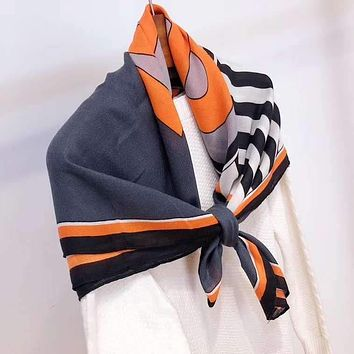 """TB "" Women Temperament Fashion Spell Color  Double-Sided  Stripe   Letter Print Cotton And Linen Silk Scarf Shawl"