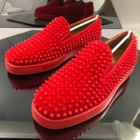 Christian Louboutin Fashionable red soled shoes