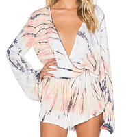 New Boho Romper in Volcano