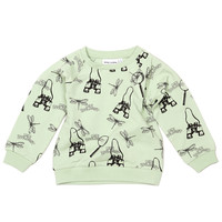 Mini Rodini Zoologist Sweatshirt - Light Green - FINAL SALE