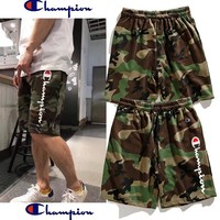 Champion Fashion Sports Running Print Shorts Camouflage