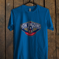 New Orleans Pelicans Blue For Mens T Shirt and Womens T Shirt *76*