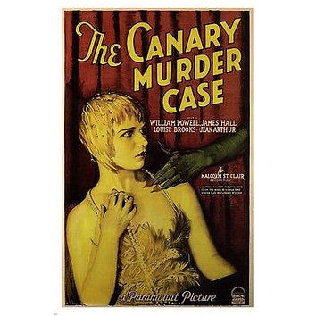 THE CANARY MURDER CASE by Frank Tuttle MOVIE POSTER 1929 24X36 Vintage Horror
