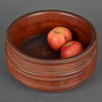 Wooden handmade bowl for candies and fruit original unique cookware decorative