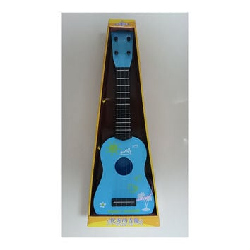 "Kid Children Music Instrument Mini Acoustic Guitar Toy 21"" ABS Plastic 4 Strings   blue"
