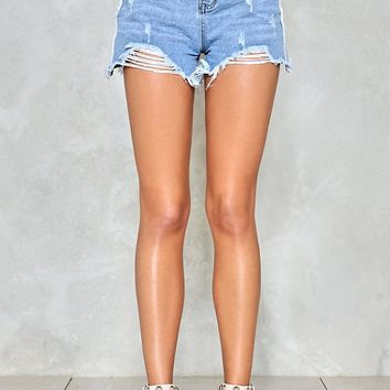Shred a Tear Denim Shorts