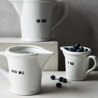Provisions Measuring Jugs by Anthropologie in White Size: Set Of 3 Kitchen