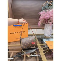 lv louis vuitton women leather shoulder bags satchel tote bag handbag shopping leather tote crossbody 275