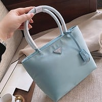 prada women leather shoulder bag satchel tote bag handbag shopping leather tote crossbody satchel shouder bag 35