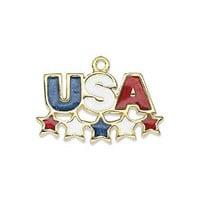 USA with stars Military Charm ADD ON
