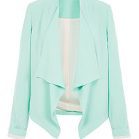 Mint Green Waterfall Blazer