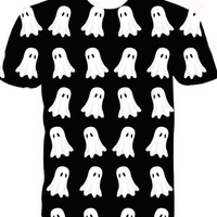 ghost funny full print graphic shirt
