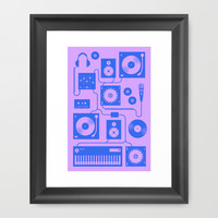 Four To The Floor Framed Art Print by Brian Biles