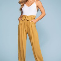 Brunch Ready Jumpsuit - Mustard