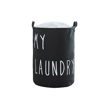 Oxford cloth dirty clothes basket with beam mouth foldable clothes storage bag