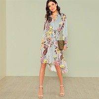 THE PERFECT FLORAL BUTTON-UP DRESS