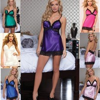 On Sale Cute Hot Deal Sexy Spaghetti Strap Sleepwear Exotic Lingerie [6596683395]