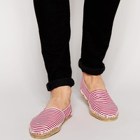 ASOS Canvas Espadrilles With Red and White Stripe